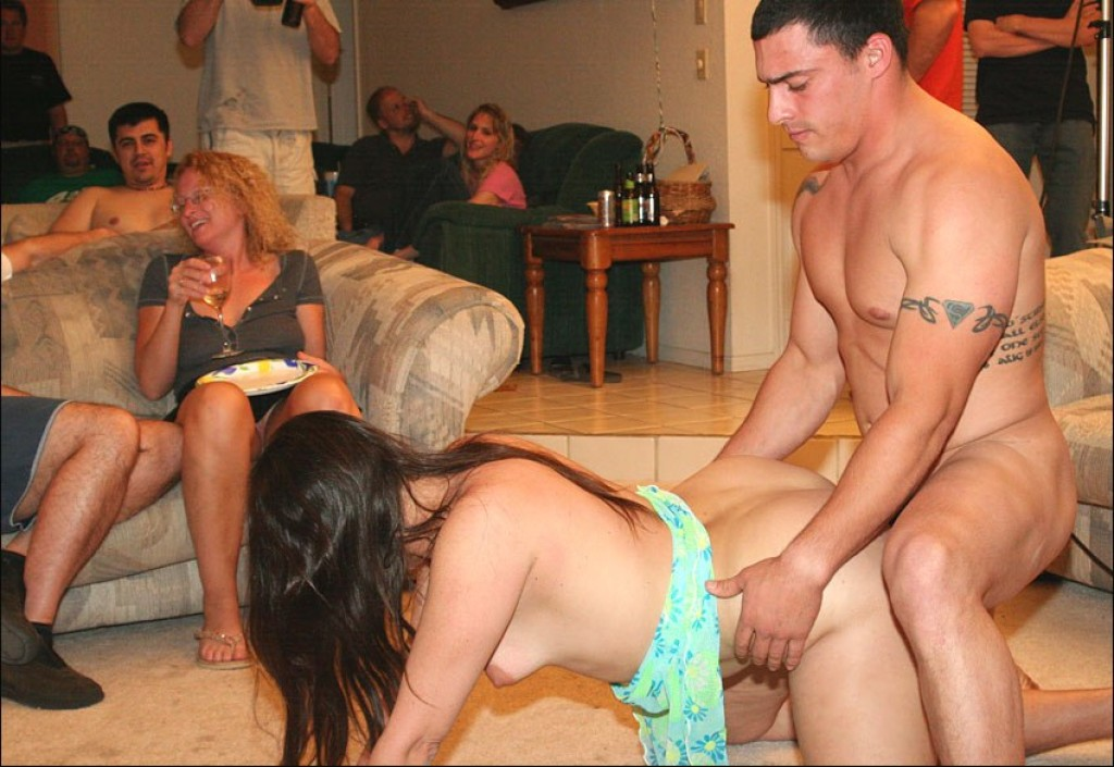 Swinger wife first party
